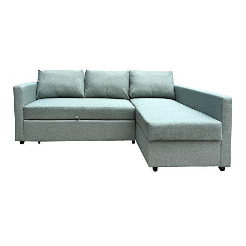 Furniture 247 3-Sitzer L-förmige Schlafcouch -