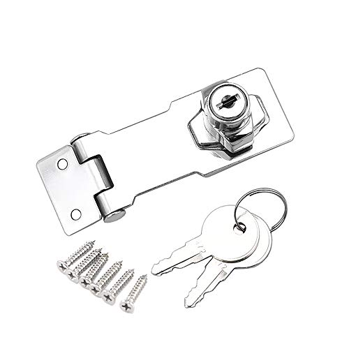 Schublade Schrank Locks Vorhängeschloss Überfalle Lock Cam Lock Tor Riegel Schloss mit Schrauben für Möbel Schrank Mailbox Schublade Schrank Closet (3 Zoll) (1 Stück) -