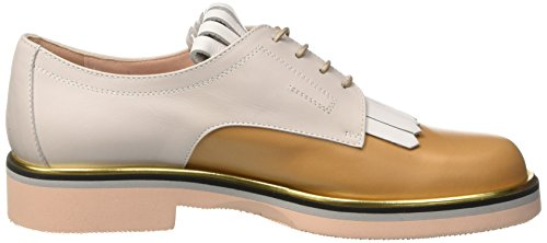 Pollini 865, Scarpe Stringate Donna Multicolore (Hide Calf-White Calf-Iceberg Calf Platinum-Stone-Powder Sole)