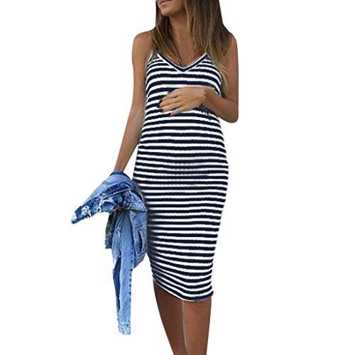 Damen Ärmellos Umstands Kleid, LeeMon Umstandsmode Kleid Sommerkleid Rock Schlafanzug Umstandskleidung Bluse Kleider Mutterschaft - Rock Mutterschaft Leinen