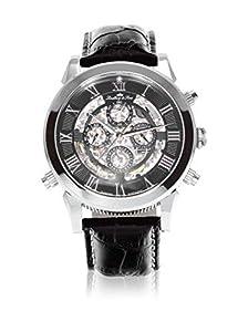 Lindberg&Sons SK14H011 - Reloj para hombres, correa de cuero color negro de Lindberg&Sons