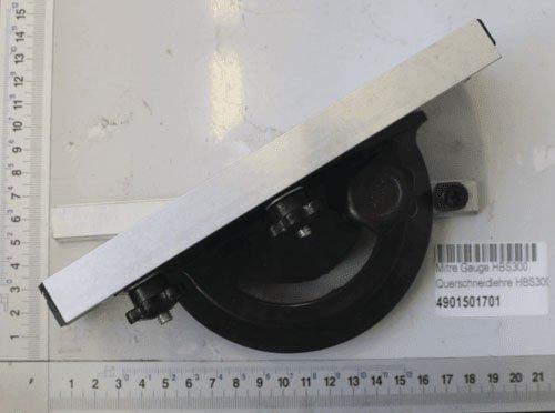 Scheppach 4901501701 Bandsäge Zubehör/Querschneidlehre, passend für die HBS300, Verstellbereich von-60 bis + 60 Grad