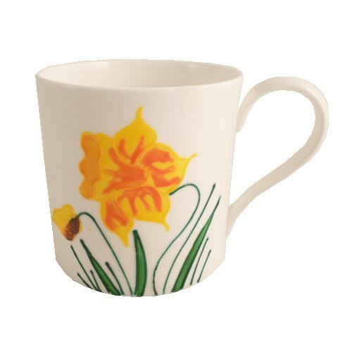 Floral Fine Bone China Tassen Daffodil Bone China