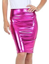 weiß blau oder rot glänzend pvc minirock alle größen Neu schwarz pink