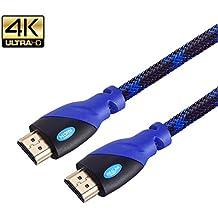 mealink Cable HDMI 10m–HDMI 2.04K * 2K–puro alambre de cobre–Alta velocidad 18Gbps–Conectores chapados en oro, Ethernet, Retorno de Audio, UHD 4K 2160p, 1080p, 3d–para XBOX PS3PS4PC DVD HDTV Proyector