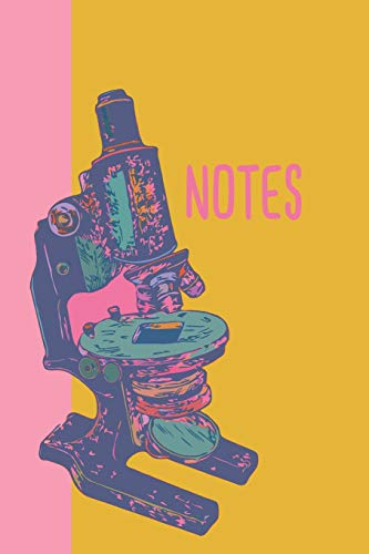 Notes: Colorful Pop Art Microscope Science 6 x 9