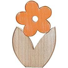 Gr/ö/ße:Blumen 1cm 1-10cm Streudeko Basteln Deko Tischdeko Holz Blumen Plumeria Pack mit:10 St/ück