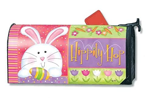 Misshow Hippity Hop Easter Magnetic Mailbox Cover