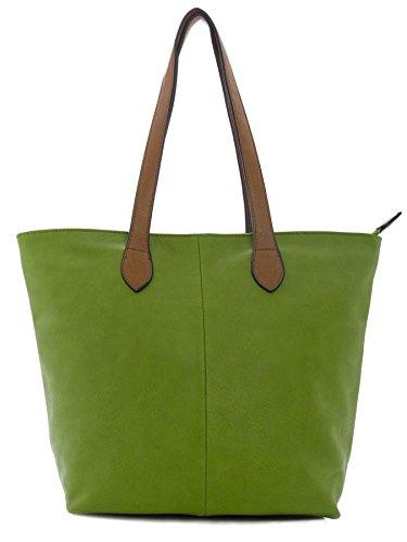 Big Handbag Shop - Sacchetto donna lime green