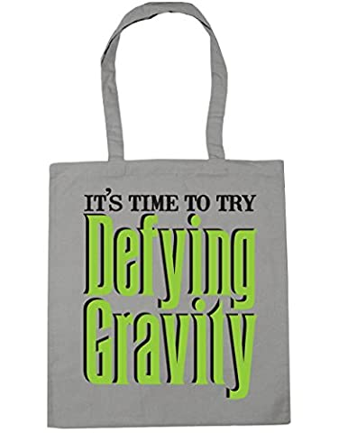 HippoWarehouse It's Time to Try Defying Gravity Tote Shopping Gym Beach Bag 42cm x38cm, 10 litres