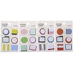 Freshsell Schedule - Pegatinas Autoadhesivas para marcapáginas, diseño de Notas
