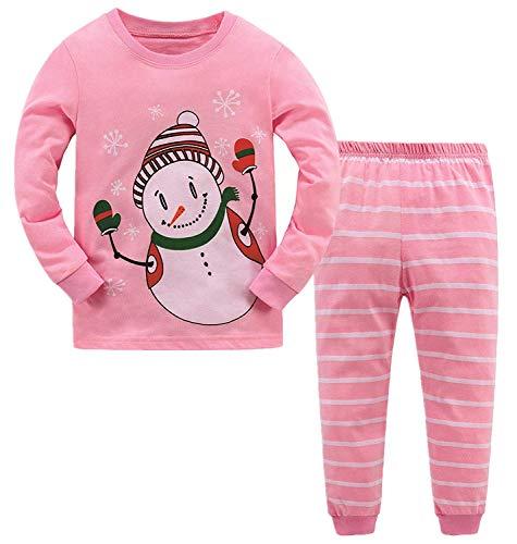 Garsumiss Jungen Mädchen Schlafanzug Weihnachten Kinder Pajama Langarm Herbst Winter Nachtwäsche 98 104 110 116 122 128 134 -