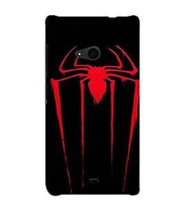 Spider insect, Black, Insect Pattern, Amazing Pattern, Printed Designer Back Case Cover for Microsoft Lumia 535 :: Microsoft Lumia 535 Dual SIM :: Nokia Lumia 535