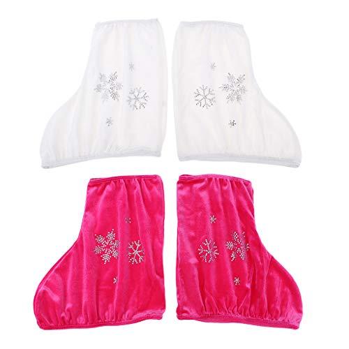 B Baosity 4 Piezas Cubre de Botas de Patinaje Artístico para Niños Chicas Adultos Protector de Clazado para Patines de Ruedas