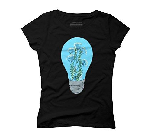 Eternal Terrarium Women's Graphic T-Shirt - Design By Humans Black