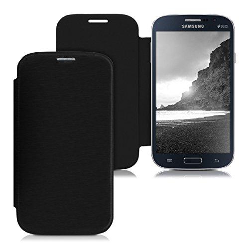 kwmobile Custodia Protettiva Pratica e Chic Flip Cover per Samsung Galaxy Grand Neo/Duos in Nero