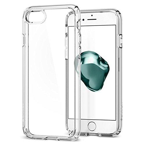 Funda iPhone 8, funda iPhone 7/8, SPIGEN® [Ultra Hybrid 2ª generación] Tecnología de amortiguación de aire y protección híbrida contra caídas para iPhone 7 (2016) / iPhone 8 (2017) [Transparente]