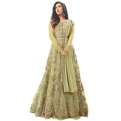 Varudi Fashion Women's Net Heavy Embroidered Semi Stitched Anarkali Gown | womens party wear | Today preminum new gowns | new design collection 2018 | new design dress