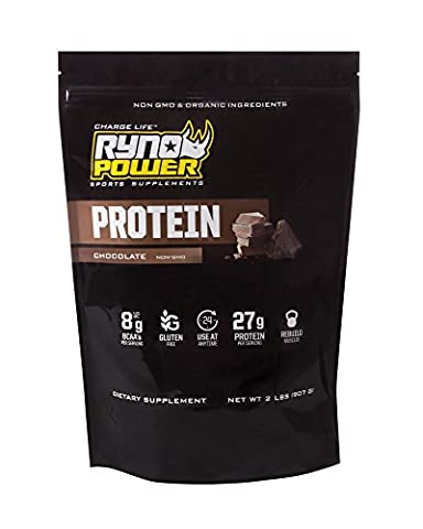 Ryno Power Chocolate Protein Powder - Whey Concentrate - Increases Stamina and Muscle Recovery - Non-GMO Ingredients and No Artificial Flavors - 2 lbs