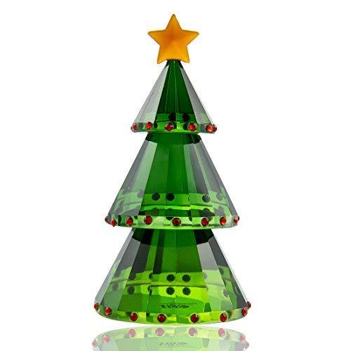 H&D grün Kristall Glas Christmas Tree Urlaub Figur mit Geschenk-Box