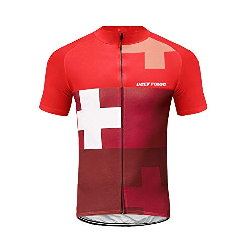 Uglyfrog Outdoor-Sport,Reiten,Kurzärmeliger Sommer 2019 Cycling Team Kurzarm+Overalls,Reitkleidung Anzug,Feuchtigkeit,Schweiß,Reitkleidung