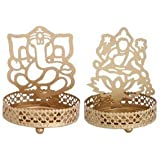 RutbaGanesh Ji & Lakshmi Ji Shadow Lamps Tealight Candle Holder Stand For Pooja And Decorative