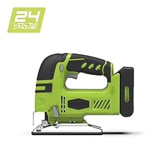 Greenworks Tools 3600707Stichsäge kabellos, Li-Ion, ohne Akku oder Ladegerät, 24V, grün