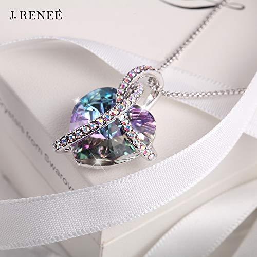 """J.RENEÉ """"Liebes-Herz anhänger schmuck, mit Swarovski Kristall, Halskette Damen, schmuck Damen, Geburtstagsgeschenk, Kette Damen"""