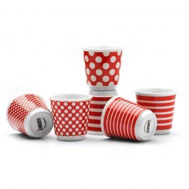 Bialetti Y0TZ090 Set 6 Bicchierini Pop Rosso