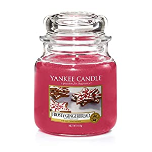 Yankee Candle Medium Jar Scented Candle, Frosty Gingerbread