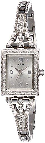 Guess orologio da polso al quarzo, analogico, donna, acciaio inossidabile, argento