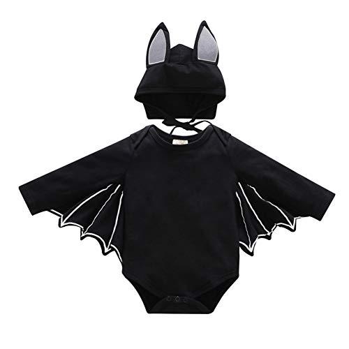 Halloween Bat Costume Cosplay per Bambina Pagliaccetto Cappello Abiti  Travestimento da Tuta Pipistrello ali di Cappuccio 85920009828