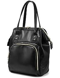 15f9a5c3f26c Rucksack Damen Handtasche Schultertasche Große Kunstleder Rucksack Tasche 2  in 1