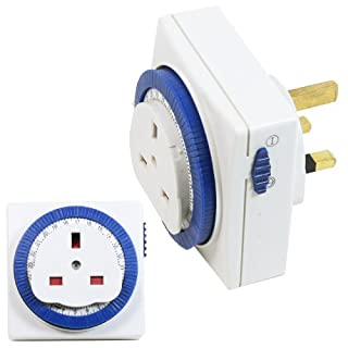 Status S24HRSQT3 24 Hr Square Mechanical Timer - White