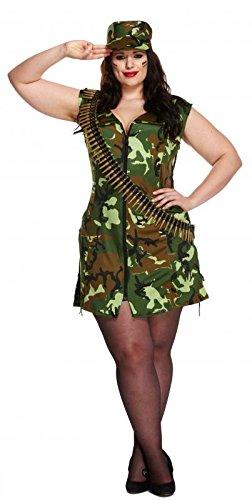 Sexy Army-Kostüm - für Erwachsene/Damen - Militärlook/Soldatin - Größe 36-40