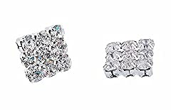 WHITE COLOUR CUBIC ZIRCONIA MAGNETIC STUD EARRINGS FOR MEN AND BOYS
