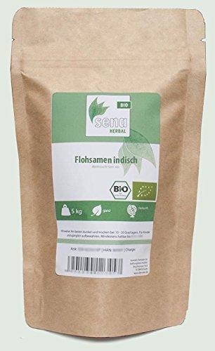 SENA-Herbal Bio - ganze Flohsamen indisch- (5kg)