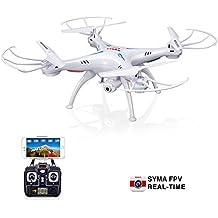 Syma X5SW FPV 2,4 GHz de 4 canales 6-Axis Gyro RC sin cabeza Quadrocopter Drone OVNI con Wifi cámara de 1.0MP HD