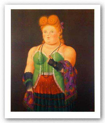 """First Art Source - Póster de del cuadro """"Alta sociedad"""" de Fernando Botero (55,8 x 45,7 cm)"""