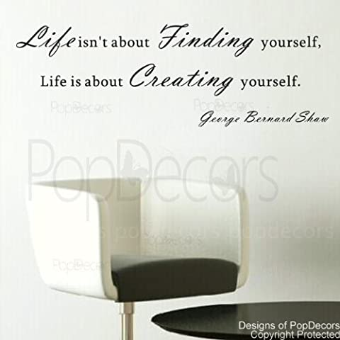 PopDecors - Life is about Creating yourself-George Bernard Shaw- words