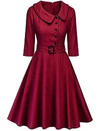 81ddb4436710d Le Donne Vestono Classico Risvolto Alta Vita Swing Vestiti Vintage