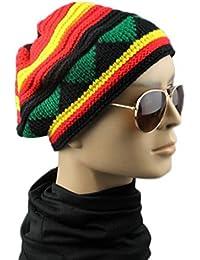 toyobuy Unisex Hombre De Punto colorido invierno caliente boina de lana de las mujeres elástica sombrero Cap