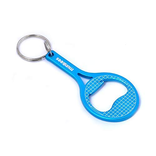 munkees Schlüsselanhänger Tennis Flaschenöffner Tennisschläger, Blau, 34056 - Leichte Tennis-shorts