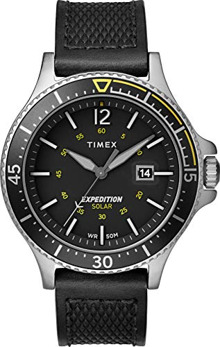 Timex Mens Analogue Classic Solar Powered Watch with Leather Strap TW4B14900 Best Price and Cheapest