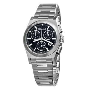 gucci herren armbanduhr 115 pantheon chronograph edelstahl. Black Bedroom Furniture Sets. Home Design Ideas
