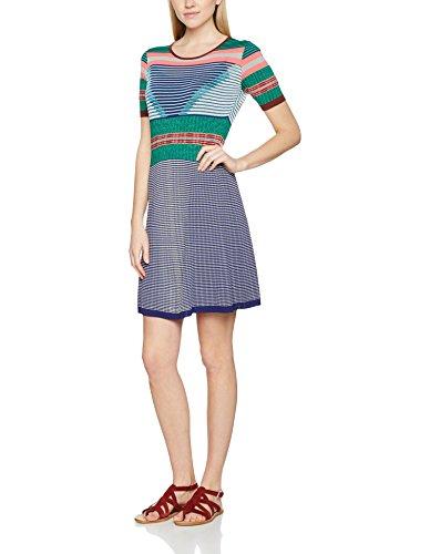Derhy Damen Kleid Xanga Blau (Marine) M