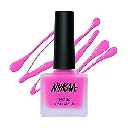 Nykaa Matte Nail Enamel - Pink Lemonade (Shade No.78) (9ml)