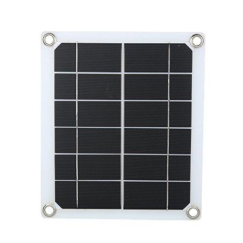Wokee 5V 5W Tragbares USB-Port-Sonnenkollektor-Ladegerät für Mobiltelefon Solar Panel Solar Ladegerät Akku für Outdoor Jagdkameras
