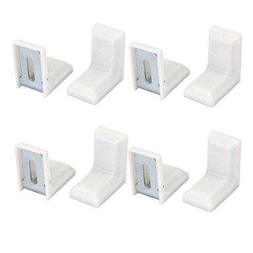 8 Stück 29x29mm Weiß Plastik Winkelverbinder Winkel Klammer Befestigungswinkel