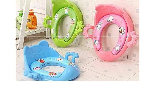 UK Baby Soft Potty Training Toilet Seats Ring Pad with Armrests Kids Girls Boys